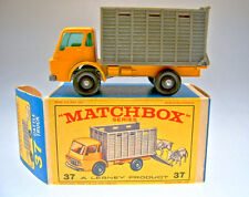 Matchbox No.37C Cattle Truck rarer grey-bown container mint/boxed