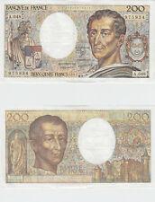 Gertbrolen  200 Francs MONTESQUIEU  Année 1987  A .048 Billet N° 0940975934