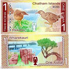 CHATHAM ISLANDS Billet 1 KOHA ND 2014  POLYMER NEW NOUVEAU NEUF UNC