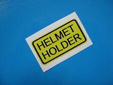 HELMET HOLDER Sticker/decal x2