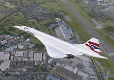 Concorde Filton British Airways Airliner Plane Blank Birthday Fathers Day Card