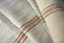 Grain sack grainsack fabric old vintage linen Hemp crinkly Washed linen old 9.6y