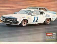 1970 Great Magazine Pic of A.J. Foyt Winning the Motor Trend 500 at Riverside