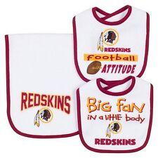Washington Redskins NFL Infant Bibs & Burp Cloth 3-Piece Team Logo Set
