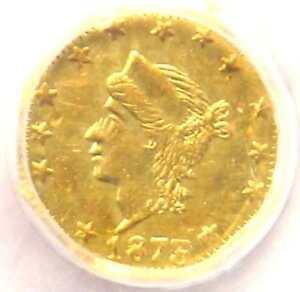1873 Liberty California Gold Quarter 25C BG-772 R6 - NGC UNC (MS) Rarity-6!
