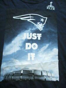 """Nike """"NEW ENGLAND PATRIOTS JUST DO IT"""" (2XL) Shirt SUPER BOWL XLIX"""