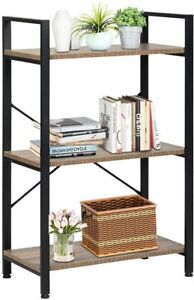 3-Tier Ladder Bookcase Storage Rack Bookshelf Plant Stand Display Shelf