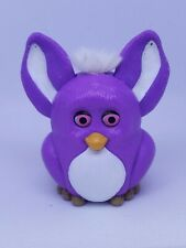 BURGER KING HASBRO FURBY PURPLE white MOVABLE pink EYES EARS KIDS TOY 2005