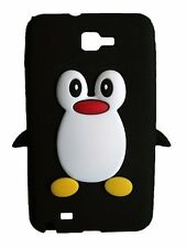 Black Silicone Penguin Phone Case / Cover for Samsung Galaxy Note N7000