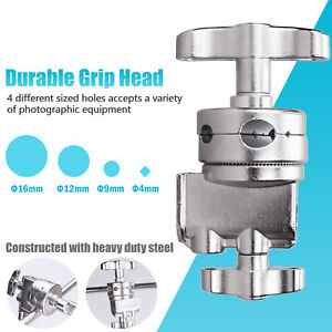 Grip Head C-Stand Boom Arm Mounting Adapter Heavy Duty Swivel Holder Stand UK