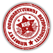 "KGB Grunge Stamp Security USSR Car Bumper Sticker Decal 5"" x 5"""