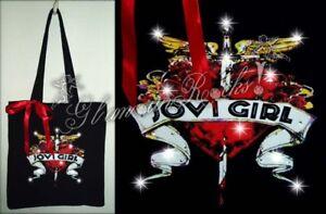 Bon Jovi Girl Band Concert Rhinestone Crystal Tote Bag Rhinestones Purse