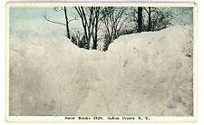 Salem Center NY - SNOW BANKS AFTER 1920 BLIZZARD - Postcard near North Salem
