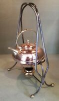 Superb Antique Souter & Sons Art Nouveau Copper Spirit Kettle on Stand