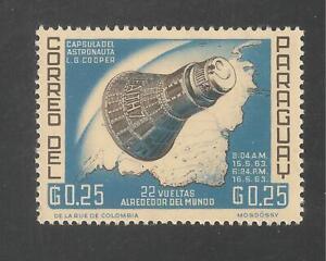 Paraguay #776 VF MINT LH - 1963 25c Project Mercury Flight of L. Gordon Cooper