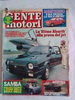 gente motori 1 1982 fiat 125 tc fiat g91pan ritmo abarth samba simca mille jeep