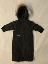 Authentic Canada Goose Black Bunny Baby Bunting Snowsuit Infant 0 - 12 Months