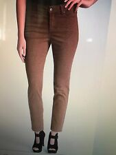 NWT DARK BROWN LEOPARD ANKLE NYDJ Not Your Daughters Jeans Size 8P Petite PANTS