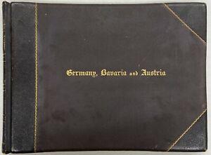 Album of vintage photographs of Germany, Bavaria, Austria