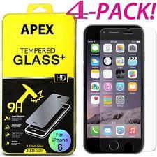Lot/4 vitres protection film verre trempé protecteur ecran iPhone X 5/6/7/8 Plus