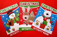 Bulk Pack of 6 Christmas Activity Books 3 Titles Kids Xmas Party Stocking Filler