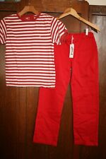 RED TWILL PANTS OUTFIT BY JACADI, PAPO D'ANJO ~ 12
