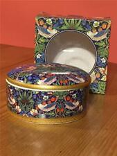 William Morris Design Strawberry Thief Round Lidded Trinket Box in original box