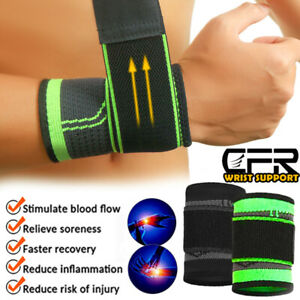 Wrist Brace Support Hand Compression Strap Carpal Tunnel Sport Arthritis Running