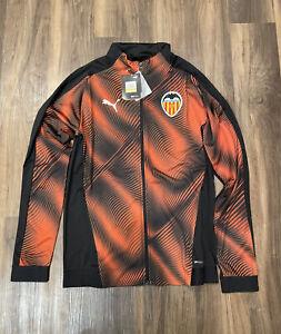 Puma VCF Stadium Valencia Black Orange Mens Jacket Drycell 756355-03 Size Medium