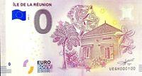 BILLET 0  EURO ILE DE LA REUNION FRANCE  2018  NUMERO 100
