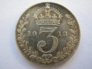 1912 silver Threepence, GVF.