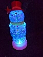"Hallmark Gift Bag 9"" Snowman Star Snow Globe Motorized FREE Ship Motorized NEW"