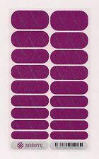 Authentic Jamberry TBT Purple & Silver Crisscross - Full Sheet Retired Rare
