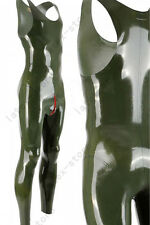 027 Latex Gummi Rubber Male Catsuit bodysuit unitard cod piece customized 0.4mm
