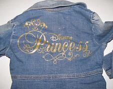 Disney Princess Blue Jean Denim Jacket Girls Size S 5 - 6 sz 5/6 small #6