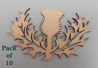 10 Pack Thistle Blanks MDF Plaques, decoration, frame, Scottish Choose Size #03