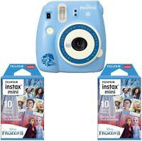 Fujifilm instax Mini 9 Instant Camera (Disney Frozen 2) +instax Film Twin Pack B