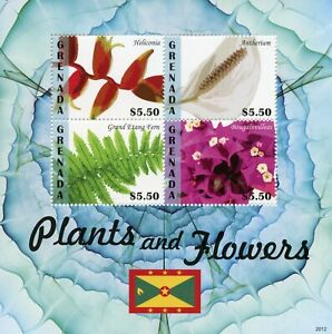 Grenada Plants & Flowers Stamps 2020 MNH Heliconia Ferns Bougainvilleas 4v M/S