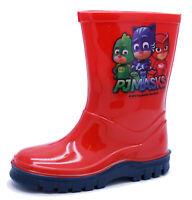 BOYS KIDS RED PJ MASKS WELLIES RAIN SPLASH WELLINGTON BOOTS INFANT SIZES 5-9
