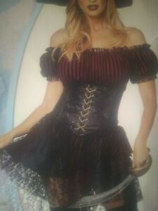 Lady of the Seas Costume  med 8-10 adult no hat included  bodice is inl