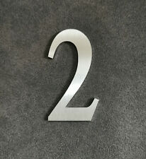 Zahl 2 Metall Edelstahl Zahlen Hausnummern Schilderbeschriftung Schriftzüge 4cm