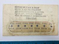 1940's 50's Deaf Mute Crippled Blue Cross Begging Letter bandages SEALED