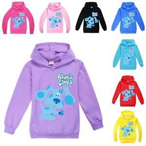 Blue's Clues Kids Boys Girls Hoodie Sweater Long Sleeve Hooded Pullover Tops UK