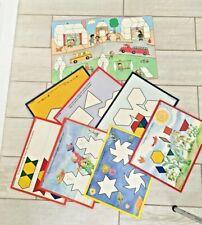 Macmillan Early Skills Pattern Blocks 14 Skill Cards Game Board math skills