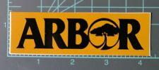 Arbor skateboards, snowboards and clothing sticker, vintage, NOS, Gold & Black