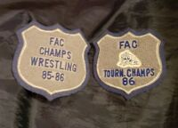Two Frontier Athletic Conference Wrestling Patches 1985 & 1986