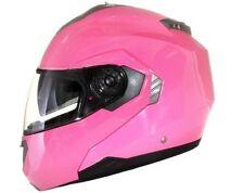 Caschi rosa monocolore moto per la guida di veicoli
