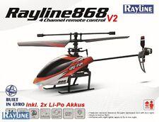 RC Hubschrauber R868 V2 Razer Single Blade Helicopter 2x LiPo 400mAh Akku 2,4GHz
