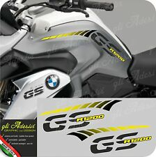 Kit Adesivi Fianco Serbatoio Moto BMW R 1200 gs LC stripes racing YELLOW