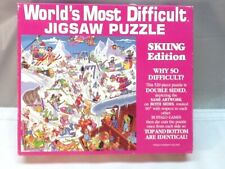 World's Most Difficult Jigsaw Puzzle ~ Skiing Edition ~ 529 Pieces ~ Complete